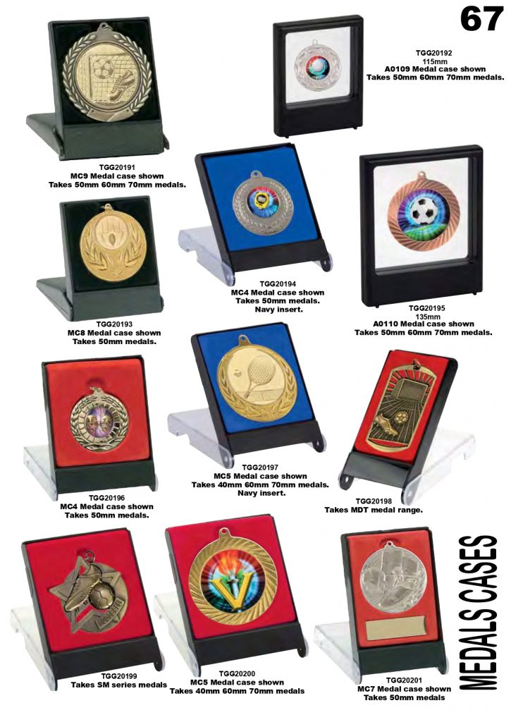 Medallions with Display Case